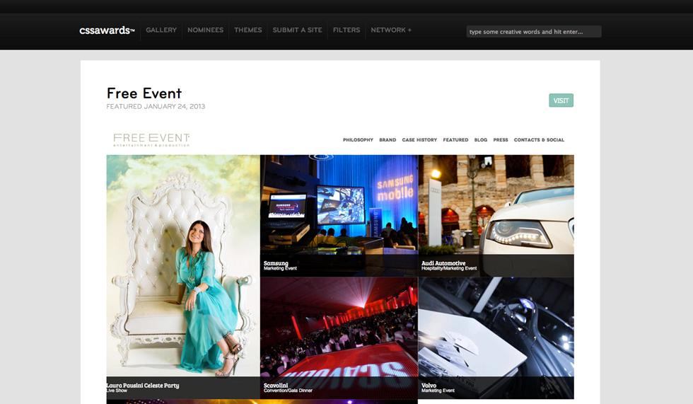sito web azienda organizzazione eventi